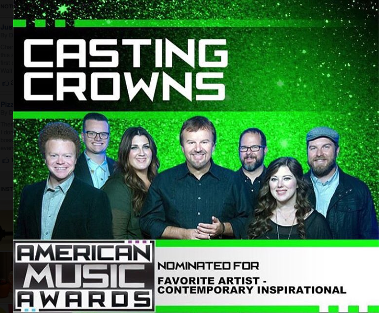 CASTING CROWNS Wins 4th American Music Award post image
